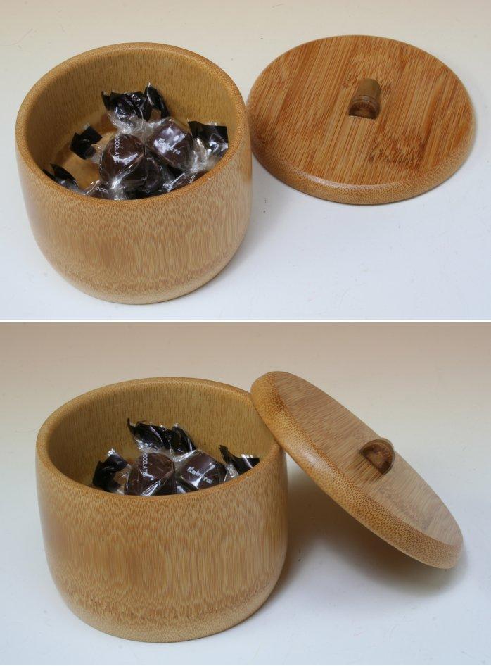 画像3: 竹製「炭化竹ボンボン入れ」 *おもてなしの心*