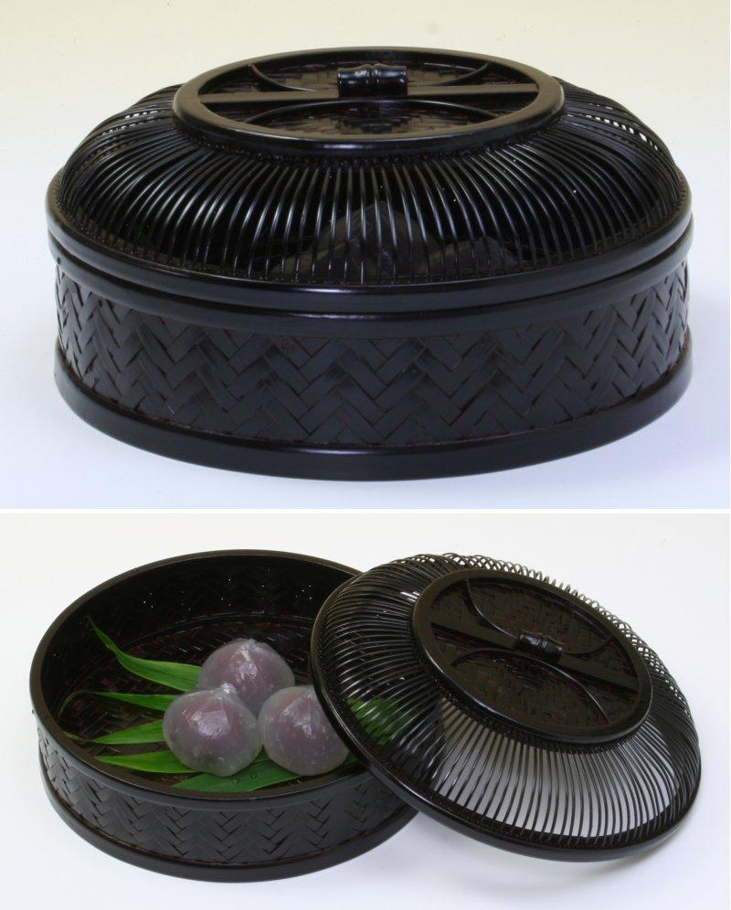 画像2: 竹製「網代菓子器・丸」 *おもてなしの心*