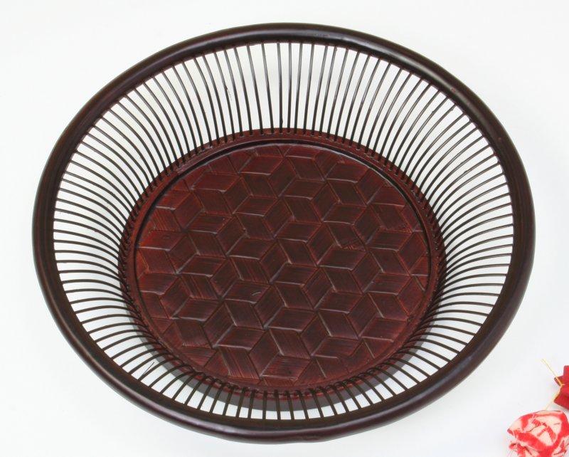 画像1: 竹製「亀甲朝顔鉢」 *おもてなしの心*