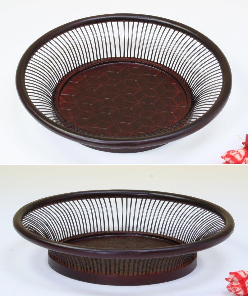 画像2: 竹製「亀甲朝顔鉢」 *おもてなしの心*