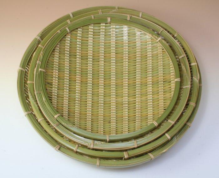 画像1: 「青竹盛皿(丸)30cm」 楽しい食卓に
